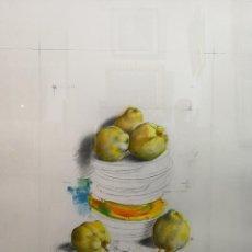 Arte: MANUEL QUINTANA MARTELO. (SANTIAGO, CORUÑA 1946). MEMBRILLOS.. Lote 124424719