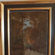 Arte: JEAN-BAPTISTE-CAMILLE COROT ? (PARÍS,1796 –1875)PAISAJE CON FIGURAS, ÓLEO SOBRE LIENZO ( 45 X 32'5). Lote 124439662