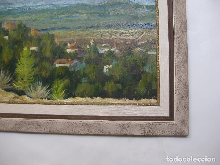 Arte: 1X0,80CM PINTURA CUADRO PAISAJE EL COLLADO LA PRESA ENRIQUE CASES CERAMISTA ARTISTA MANISES - Foto 2 - 124441823
