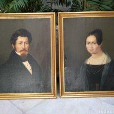 Arte: RETRATO, PAREJA DE ÓLEOS ALEMANES FECHADOS EN 1838 Y FIRMADOS SCHWAB. Lote 124513058