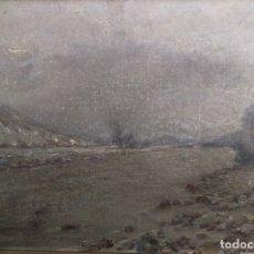 Arte: ANTIGUO CUADRO PINTURA OLEO PAISAJE SOBRE LIENZO ANONIMO - VALLE DEL RIBAGORZANA -. Lote 124552151