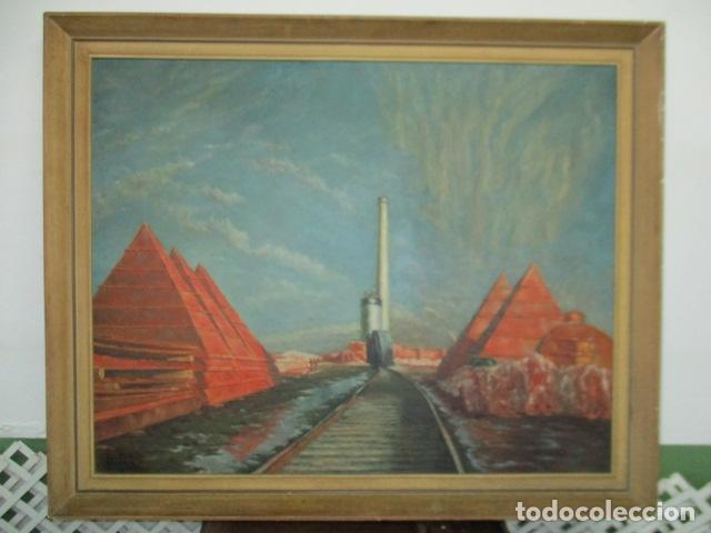 PRECIOSO OLEO SOBRE TELA DE PINTOR ATANA - AÑO 1960. 103 CM X 84 CM (Arte - Pintura Directa del Autor)