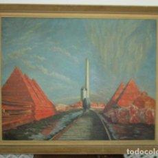 Arte: PRECIOSO OLEO SOBRE TELA DE PINTOR ATANA - AÑO 1960. 103 CM X 84 CM. Lote 124568847
