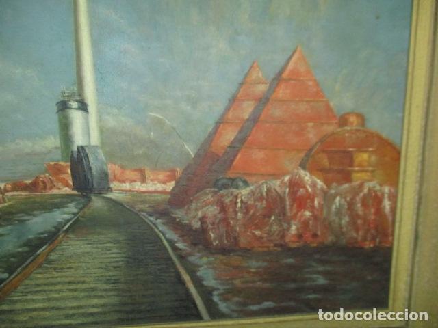 Arte: Precioso oleo sobre tela de pintor ATANA - año 1960. 103 cm x 84 cm - Foto 2 - 124568847