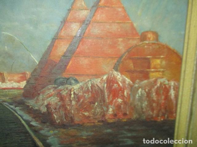 Arte: Precioso oleo sobre tela de pintor ATANA - año 1960. 103 cm x 84 cm - Foto 5 - 124568847