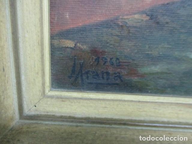 Arte: Precioso oleo sobre tela de pintor ATANA - año 1960. 103 cm x 84 cm - Foto 7 - 124568847