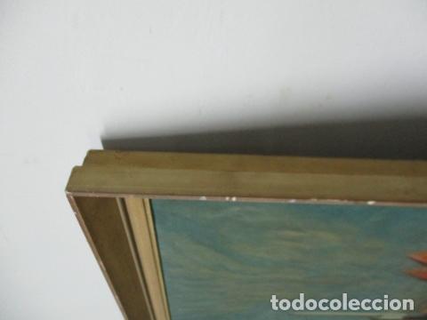 Arte: Precioso oleo sobre tela de pintor ATANA - año 1960. 103 cm x 84 cm - Foto 10 - 124568847