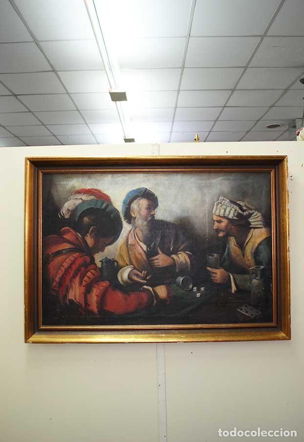PINTURA ÓLEO SOBRE LIENZO ESCUELA ESPAÑOLA (Arte - Pintura - Pintura al Óleo Antigua sin fecha definida)