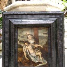 Arte: PIEDAD ÓLEO SOBRE TABLA SIGLO XVI ESCUELA ESPAÑOLA. Lote 124614320