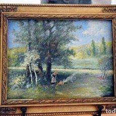 Arte: CIRCA 1930 - ESCUELA RUSA - OLEO - MARCO DE ÉPOCA - RUSO. Lote 51204398