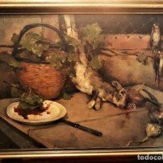Arte: ESCUELA ESPAÑOLA, PAREJA DE BODEGONES DE CAZA ,FIRMADOS HARMENDIA? S.XIX ,ÓLEO SOBRE LIENZO. Lote 124707519