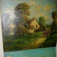 Arte: JEHAN -MARY BERNARD 1845-1917 PINTORA ((( ESPOSA DE HENRY CROSS )) DOS OBRAS. Lote 124739575