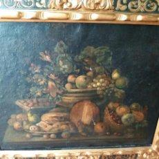 Arte: BODEGON SIGLO XVII- XVIII. OLEO SOBRE LIENZO. MEDIDAS 62 X 80 MARCO 12 CM . Lote 124902491