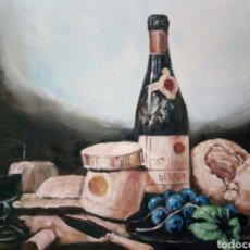 Arte: HERMOSO BODEGON,OLEO SOBRE LIENZO. Lote 125100218