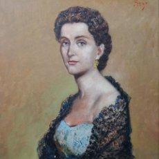 Arte: MANUEL PREGO DE OLIVER ORENSE (1915-1986) RETRATO. Lote 125153215