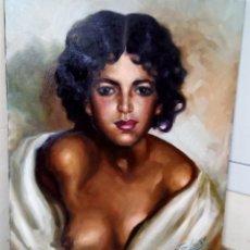 Arte: JOLOGA. RETRATO DE JOVEN. 65X54. F15. MARCO A ELEGIR GRATIS.. Lote 125192923