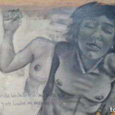 Arte: PINTURA EMBLEMATICA AL ÓLEO SOBRE MADERA TRANSGRESORA. Lote 125213323