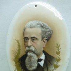 Arte: JOSÉ NOGUÉ MASSÓ - PINTURA CAMAFEO DE PORCELANA ESMALTADA - RETRATO FREDERIC SOLER PITARRA 1890. Lote 125224547