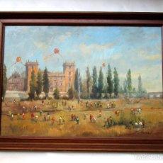 Arte: GRAN CUADRO OLEO PINTURA RIO VALENCIA MUSEO BELLAS ARTES PIO V J MARTORELL DIA DE PASCUA. Lote 125246755