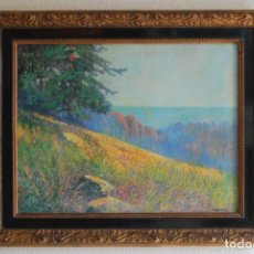 Arte: IVAN IVANOVITCH KOWALSKI (1839-1937) - RUSIA - ÓLEO SOBRE CARTÓN - SIGLO XIX - PAISAJE - ENMARCADO. Lote 125250451