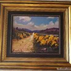 Arte: == H03 - BONITO OLEO - PAISAJE SIERRA DE ALBARRACIN 1984 - FIRMADO BENEDICTO - 30 X 24 SIN MARCO. Lote 125275351