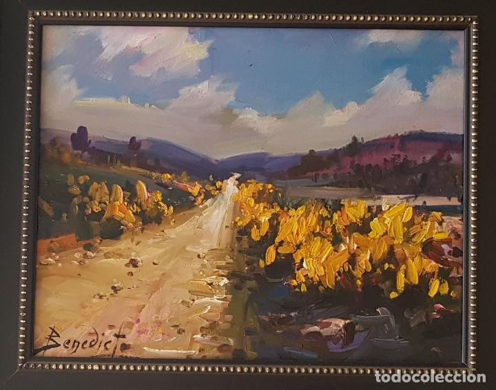 Arte: == H03 - BONITO OLEO - PAISAJE SIERRA DE ALBARRACIN 1984 - FIRMADO BENEDICTO - 30 X 24 SIN MARCO - Foto 2 - 125275351