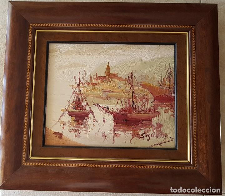 == H06 - BONITO OLEO SOBRE LIENZO FIRMADO POR ANTONIO SEGRELLES (Arte - Pintura - Pintura al Óleo Contemporánea )