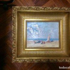 Arte: PAREJA MARINAS SIGLO XX CUADROS PINTURA AL OLEO SOBRE TABLA FIRMADO J. VILCHES. Lote 125278575