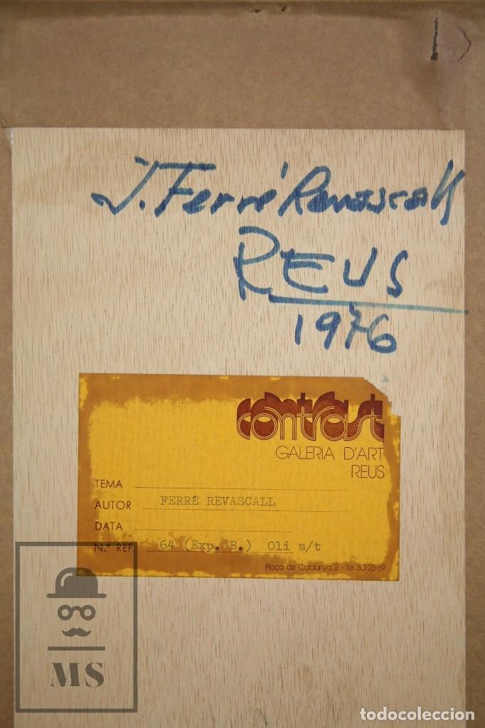 Arte: Pintura al Óleo Sobre Táblex Enmarcada - Josep Ferré Revascall. Bodegón de Rosas - Reus, Año 1976 - Foto 8 - 125291951