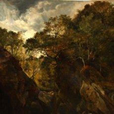 Arte: SIDNEY RICHARD PERCY (1822 - 1886) OLEO SOBRE TELA TITULADO A ROCKY GLEN ESCKY. Lote 125428407
