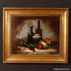 Arte: PINTURA AL ÓLEO SOBRE LIENZO FIRMADA CON NATURALEZA MUERTA DEL SIGLO XX. Lote 125837263