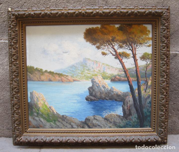 M. FORTEZA - SOL DE TARDOR, MANACOR, MALLORCA. PINTURA AL ÓLEO SOBRE TELA. 80X70CM (Arte - Pintura - Pintura al Óleo Contemporánea )