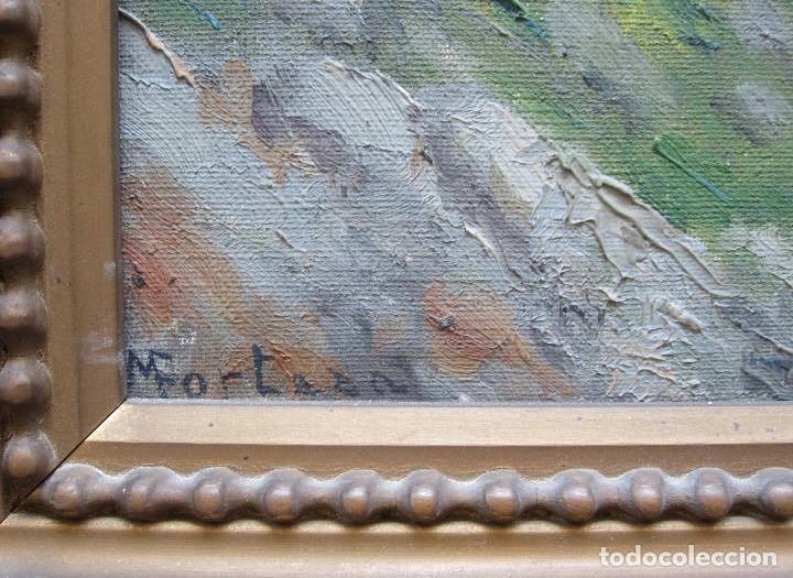 Arte: M. Forteza - sol de tardor, Manacor, Mallorca. Pintura al óleo sobre tela. 80x70cm - Foto 3 - 125898143