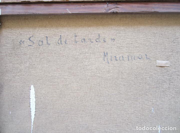 Arte: M. Forteza - sol de tardor, Manacor, Mallorca. Pintura al óleo sobre tela. 80x70cm - Foto 6 - 125898143