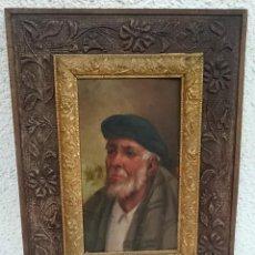 Arte: ANTIGUO RETRATO DE ANCIANO, SEÑOR MAYOR, ÓLEO SOBRE TABLA.GRAN CALIDAD DE PINTURA. MARCO MADERA53X39. Lote 126030471