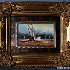 Arte: SOLDEVILLA - MARINA - CUADRO DE ÓLEO SOBRE TABLERO. . Lote 126034743