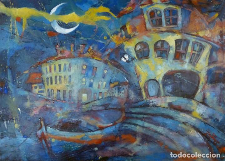 DOROTA ZAJAC ÓLEO SOBRE TELA: CALELLA DE PALAFRUGELL (Arte - Pintura - Pintura al Óleo Contemporánea )