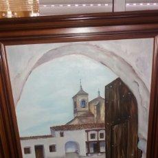 Arte: ANTIGUO LIENZO ENMARCADO CON FIRMA DE AUTOR. Lote 126085034