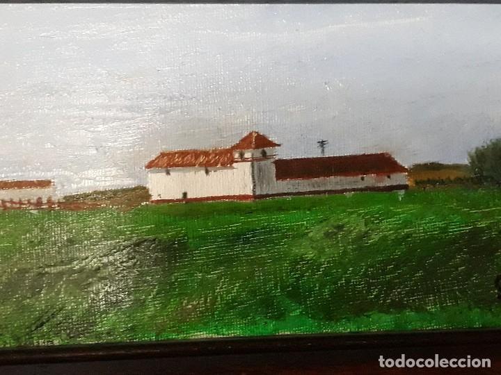 Arte: Oleo sobre tabla enmarcado,Paisaje andaluz.Medidas 40 x 26 con marco; 24 x 10 cm la pintura - Foto 4 - 126090231