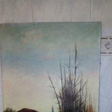 Arte: OLEO SOBRE LIENZO , FIRMADO MARQUÉS. Lote 126163930