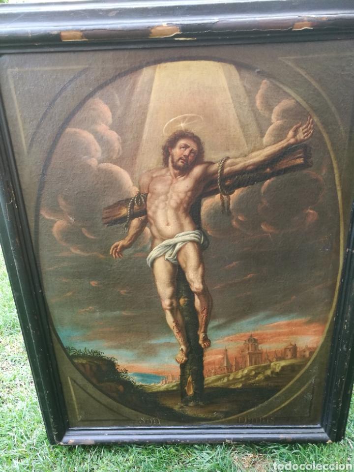 CUADRO SAN DIMAS SIGLO XVIII (Arte - Pintura - Pintura al Óleo Antigua siglo XVIII)