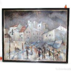 Arte: PIEZON! CUADRO PINTURA OLEO ORIGINAL 106X85CM JOSE GARCIA TORRES VALENCIA 1981 ALTEA. Lote 126295579