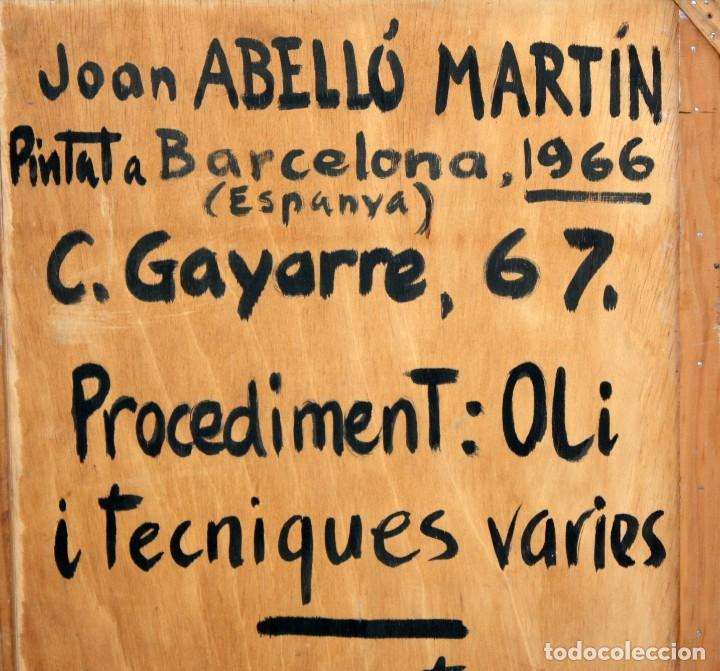 Arte: JOAN ABELLÓ MARTÍN (BCN 1920 - 2007) OLEO TABLA AÑO 1966. TITULADO HOMENAJA A GAUDÍ - Foto 9 - 126397695