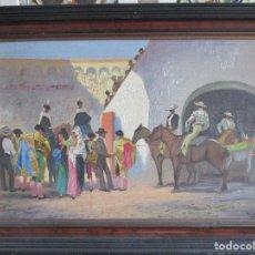 Arte: PINTURA COSTUMBRISTA PLAZA DE TOROS. Lote 126400719