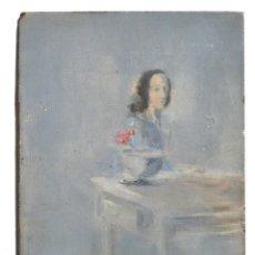 Arte: GUILLERMO DELGADO, PINTURA 1969, TABLEX, 16X12 CM. Lote 126493095