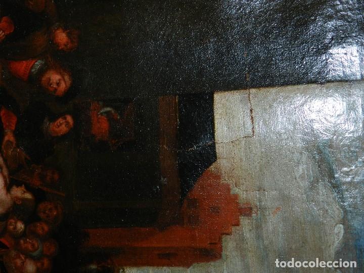 Arte: (M) PINTURA ANTIGUA AL OLEO DEL S.XVII POSIBLEMENTE FLAMENCA COSTUMBRISTA (ORIGINAL) VER FOTOGRAFIAS - Foto 29 - 108073875