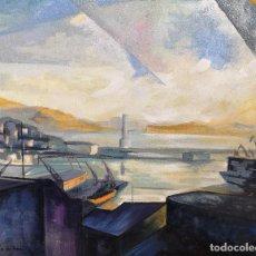 Arte: MARTA PARDO DE VERA (CORUÑA 1948). DESDE MI VENTANA. OLEO SOBRE LIENZO.. Lote 126707643