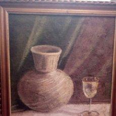 Arte: ANTIGUO BODEGON,OLEO SOBRE TELA DE SACO. Lote 126752631