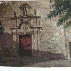 Arte: IGLESIA DE S. FELIP NERI. BARCELONA. 195?. 29X38,5 CM. OLEO SOBRE CARTÓN CON TELA DE RAFAEL RAMIS. Lote 126786987