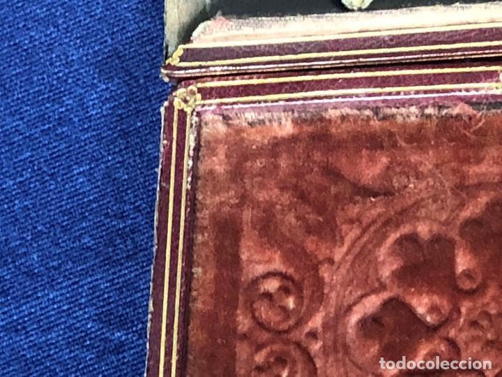 Kunst: miniatura ferrotipo pintado joven con peinado flecha ave perlas estuche origen no firma calidad 8x7c - Foto 16 - 126805419